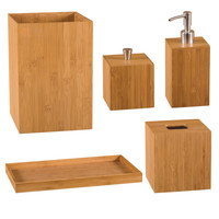Seville Classics 5-piece Bamboo Bath and Vanity Set | Overstock.com