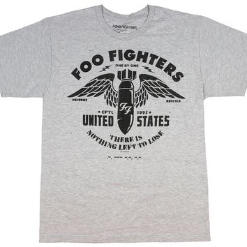 Foo Fighters tshirt Men's Winged Bomb Nothing Left To Loose Shirt