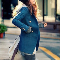 spring Outerwear Double-breasted overcoat woollen suit /women blazer/ women coat/ women jacket/spring /autumn/suit/slim style/   XS,S,M,L,XL