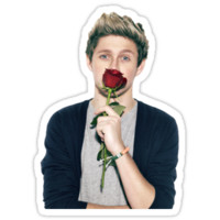niall w/ a rose
