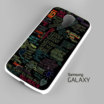 one direction song Samsung Galaxy S3 S4 S5 Note 3 Cases