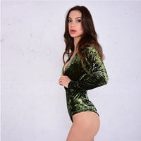New Sexy Womens Jumpsuits warm casual Solid Rompers Female nude bodysuit top playsuits Negro spandex bodysuit