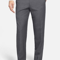 Men's JB Britches 'Torino' Flat Front Check Wool Trousers