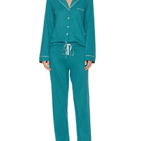 Blush Lingerie Women's Elise Cotton Pajama Set - Green -