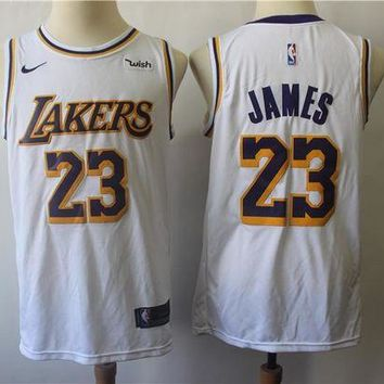 PEAP 2019 LA Lakers 23 LeBron James Swingman Jersey