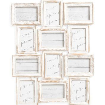 AZZURE 12 Opening Metallic Brushed Collage Frame