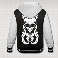 Sailor Moon Skull Varsity hooded jacket