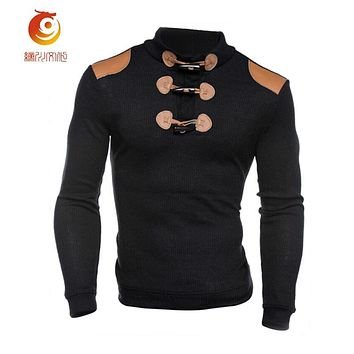 Stand Collar Wool Sweater Knitwear Long Sleeve Leisure Jacket Slim Fit Men Pullover Sweater Spring Winter Fashion Men Clothes