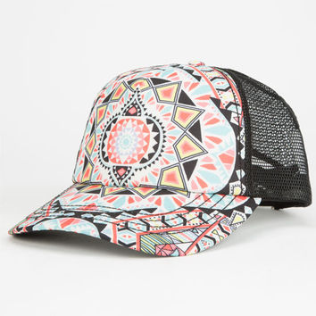 Billabong Tiles N Tides Womens Trucker Hat Multi One Size For Women 25129095701
