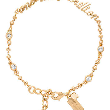 Kate Spade Say Yes One In A Million Bracelet Clear/Gold ONE