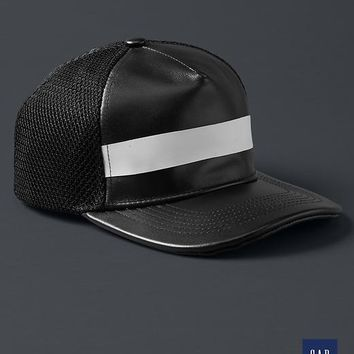 Gap + GQ STAMPD Black Leather Hat Size One Size - Black