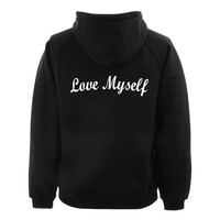 love myself hoodie BACK