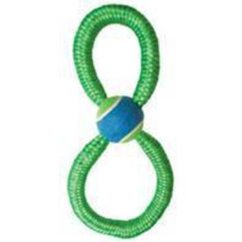Ethical Dog - Monster Bungee Figure 8  W/tennis Ball Tug Dog Toy