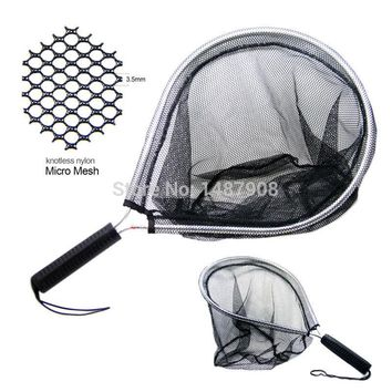 SAMS Landing Net Catch and Release Nets Scoop Brail Nylon Mesh Netting for Fly Trout Kayak and Boating Fishing Aluminum Hoop