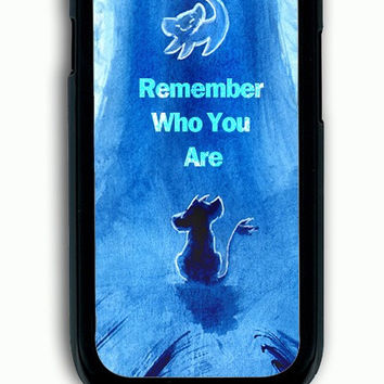 Samsung Galaxy S3 Case - Rubber (TPU) Cover with The Lion King Hakuna Matata Remember Who You are Rubber Case Design