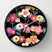 Welcome to my garden Wall Clock by Juliagrifol Designs