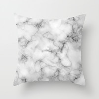 Marble Art V3 Throw Pillow by 83oranges.com