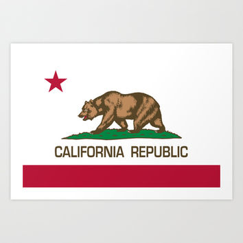 California Republic state flag - Authentic Version Art Print by LonestarDesigns2020 - Flags Designs +