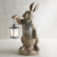Bow Tie Bunny with Lantern