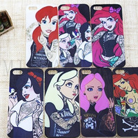 For Apple i Phone iPhone 5 5s Case Tattoo Alice Little Mermaid series Protective Cover Soft Case For iPhone5 iPhone5s covers