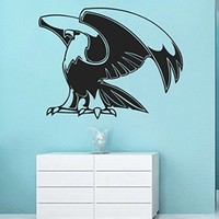 Wall Vinyl Sticker Decal Eagle Lifting His Wings Nursery Room Nice Picture Decor Mural Hall Wall Ki718