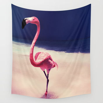 Flamingo Wall Tapestry by JG-DESIGN