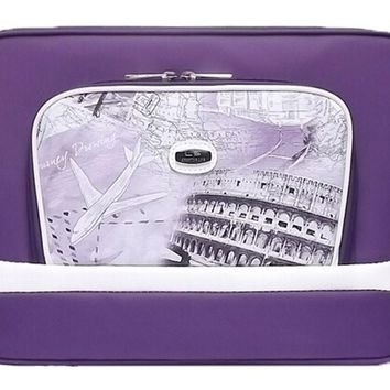 Waterproof Laptop Sleeve Case For All 13-Inch PU Leather Cute Laptop Bag PURPLE