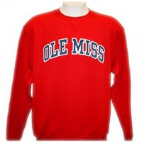 Rebel Rags - Anything, Everything Ole Miss - RUSSELL OLE MISS TWILL CREW
