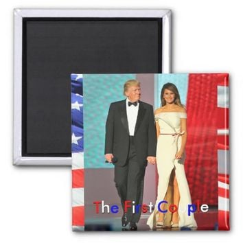 First Couple President Trump First Lady Melania Magnet