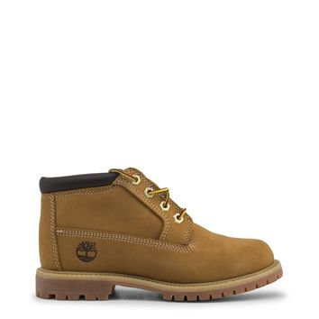 Timberland Brown Round Toe Ankle Boots