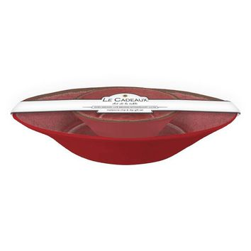 Antiqua Red Chip and Dip 2 Bowl Set
