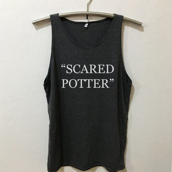 Harry Potter Dark Gray  Tank Top Draco Malfoy Quotes tumblr Tee Shirt Malfoy t shirt with sayings Inspired by Harry Potter Vintage Style