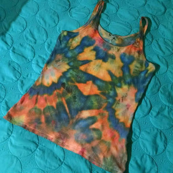 Acid Tie Dye Tank Top Hippie Grunge Punk Fashion Shirt