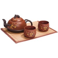 Red Cherry Blossom Yixing Tea Set