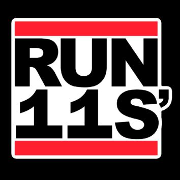"RUN 11S' 3"" Sticker"