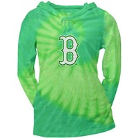 Boston Red Sox - Logo Tie Dye Juniors Thermal Hoodie