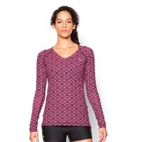 Under Armour Women's UA HeatGear Armour Printed Long Sleeve