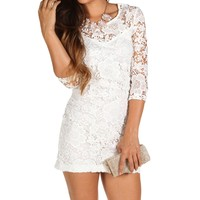 Sale-crochet White Dress