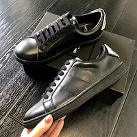 YSL Old Skool Women Fashion Leather  Flats Shoes