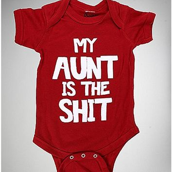 My Aunt is the Shit Baby Bodysuit - Spencer's