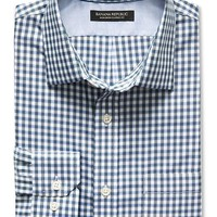 Banana Republic Mens Classic Fit Non Iron Twill Gingham Shirt