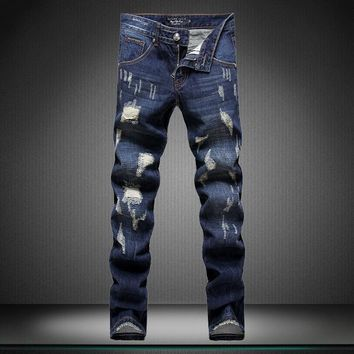 Ripped Holes Jeans [164468424733]