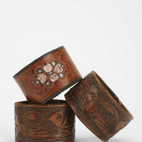 Urban Renewal Tooled Leather Bracelet - Urban Outfitters