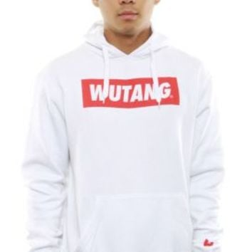 Wu-Tang Brand, Box Logo Pullover Hoodie - White - Wu-Tang Brand - MOOSE Limited