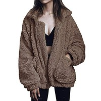 Women's Cool Furry Casual Jacket
