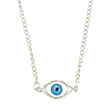 Third Eye Chakra Necklace Eyeball Occult NC20 Silver Tone Pendant