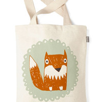 ModCloth Critters The Crowd Goes Wilderness Tote in Fox