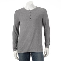 Marc Anthony Slim-Fit Solid Knit Textured Sweater Henley