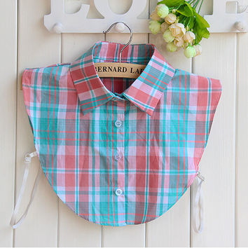 Women's Plaids False Collar