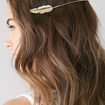 Etched Feather Headband